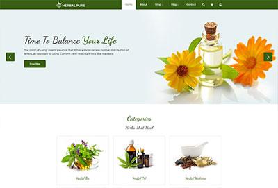 Herbal Pure HTML Website Template