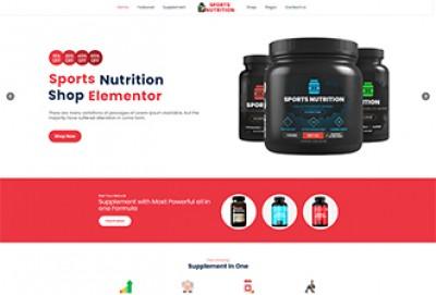 Sports Nutrition Shop Wordpress Theme