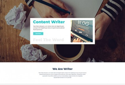 Content Writing WordPress Theme