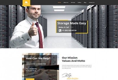 Storage Services WordPress Theme