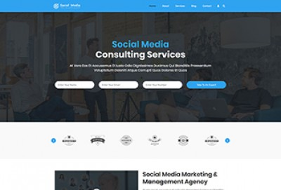 Social Media Consultant WordPress Theme