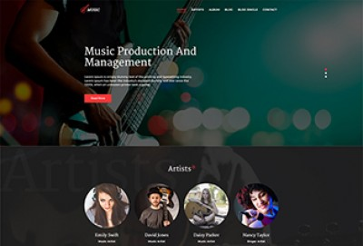 Music Production Agency HTML Website Template