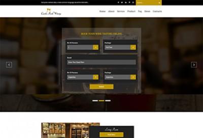 Luxury Wine HTML Website Template