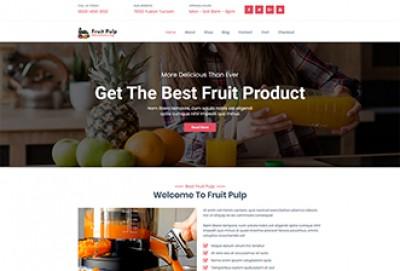 Fruit Pulp Manufacturing WordPress Theme