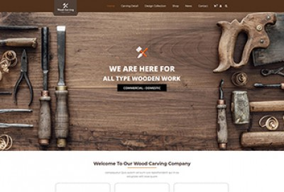 Wood Carving And Woodcraft WordPress Theme