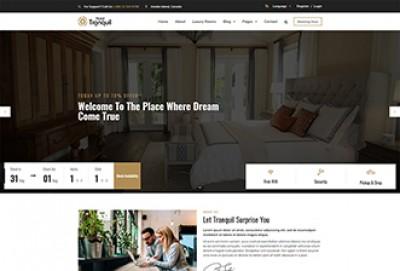 Resort and Hotel WordPress Theme