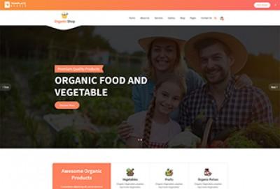 Organic Shop HTML Website Template
