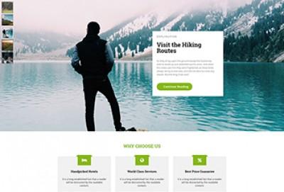 Trip Organizer HTML Website Template