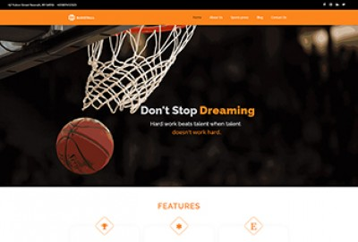 Basketball Club WordPress Theme