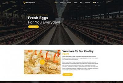 Poultry Farm WordPress Theme