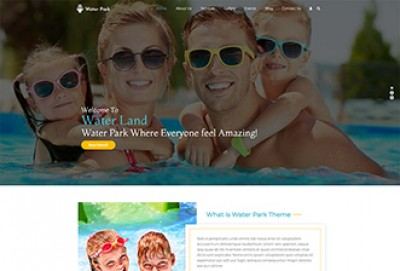 Water Park, Water Slides And Water Sports WordPress Theme