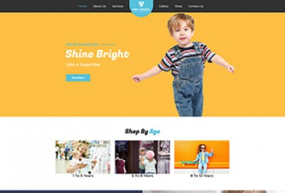 Kids Apparel Store WordPress Theme