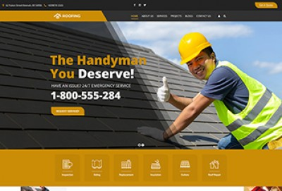 Roofing Contractor WordPress Theme