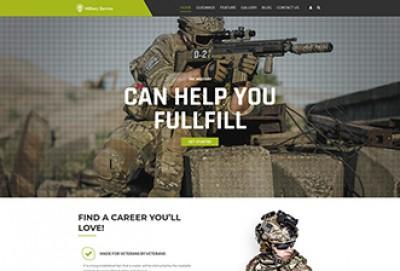 Military Services WordPress Theme