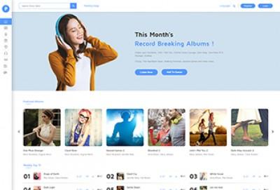 Music Store WordPress Theme