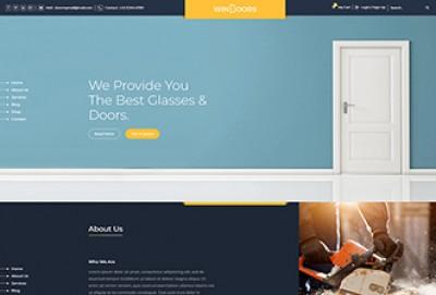 Windows & Doors Online Store HTML Website Template