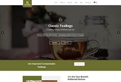 Tea Bag Manufacturing WordPress Theme