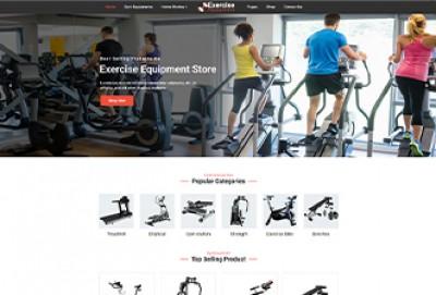 Gym Exercise Equipment Store Wordpress Theme