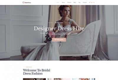 Bridal Wedding Dresses WordPress Theme