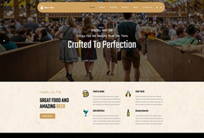 Brewery, Pub Store and Beer Bar WordPress Theme