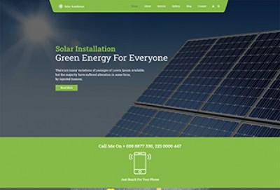 solar panel installation wordpress theme | solar energy themes