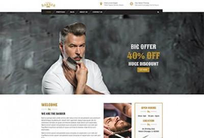 Barber Shop HTML Website Template