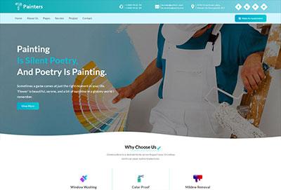 Painter Website HTML Template