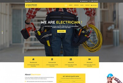 Electrician HTML Website Template