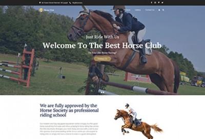Horse Riding Club WordPress Theme