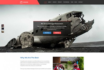 Damage Restoration WordPress Theme