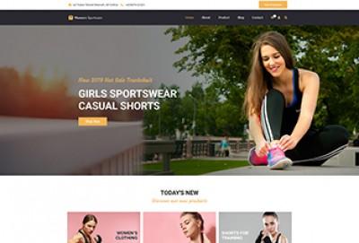 Women's Sportswear WordPress Theme