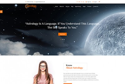Astrology and Horoscope HTML Website Template
