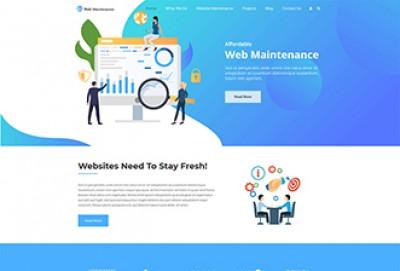 Website Maintenance Service WordPress Theme