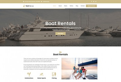 Yacht Service WordPress Theme