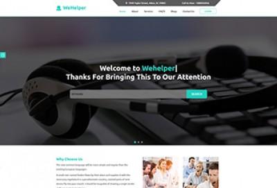 Call Center HTML Website Template