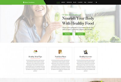 Nutrition WordPress Theme | Health Center, Diet Clinic, Weight Loss Themes