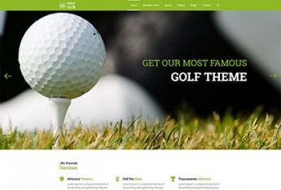 Golf Club HTML Website Template