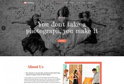 Artist, Painter And Painting Company WordPress Theme
