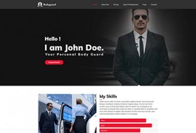 Personal Bodyguard WordPress Theme