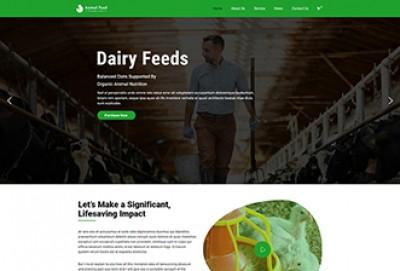 Animal Feed Production WordPress Theme
