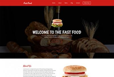 Fast Food HTML Website Template