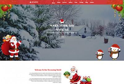 Christmas Decoration HTML Website Template