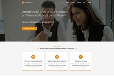 Personal Virtual Assistant & Secretary WordPress Theme