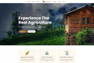 Agrotourism, Farming and Agriculture WordPress Theme