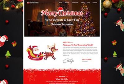 Christmas Decoration WordPress Theme