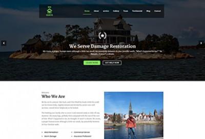 Damage Restoration HTML Website Template