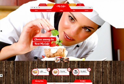 Coffee Shop and Cafe HTML Website Template