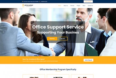 Office Support Services WordPress Theme