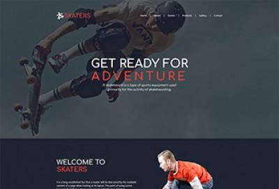Skateboard HTML Website Template