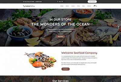 Online Seafood Selling WordPress Theme